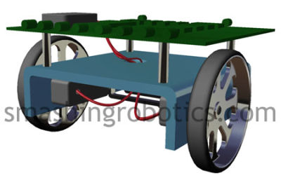 Simple wheeled mobile robot platform