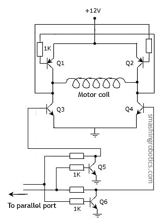 H-bridge electronic circuit