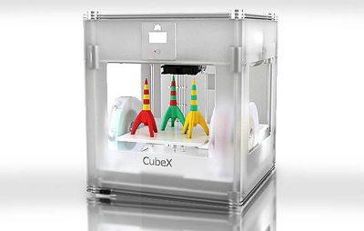 Cubex Trio  triple head 3D printer | Photo: Cubify