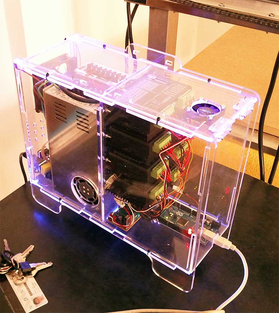 Buildersbot electronics enclosure smashing robotics