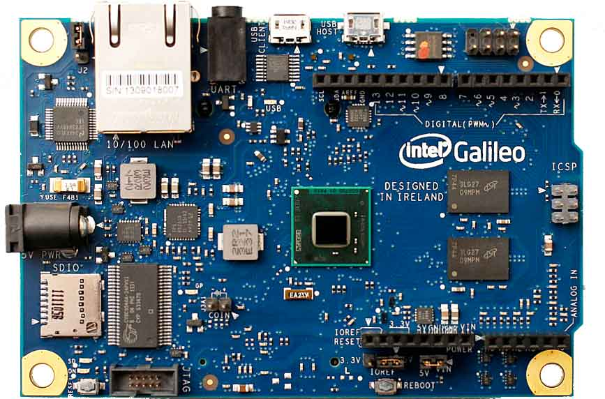 Intel Galileo top view