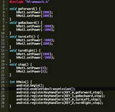 RoboCORE programming example