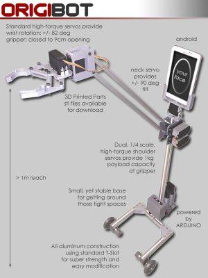 ORIGIBOT Telepresence Robot Actuators