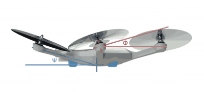 CyPhy LVL 1 angled rotors
