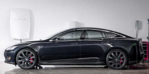 Tesla Powerwall battery and Model S