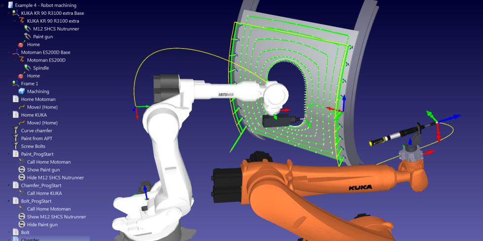 Industrial Robot Machining Simulation