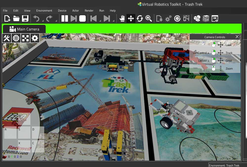 Trash Trek Challenge example project in VRT