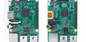 Raspberry Pi 3 and Pi 2 comparison - topby side