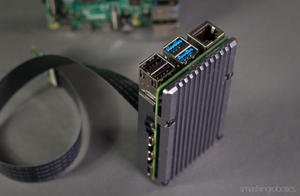Raspberry Pi 4 model B with Pimoroni Heatsink